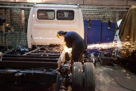 Installation de benne sur camion